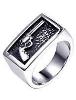 cheap -hzamn hip hop rock stainless steel revolver western denim fashion ring size 7-14