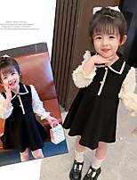 cheap -girls' little fragrant dress 2021 new spring children's western style long-sleeved children's clothes korean princess dress