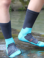 cheap -Men's Hiking Socks 1 Pair Outdoor Waterproof Breathable Warm Stretchy Socks Patchwork Solid Color Nylon Black Blue Green for Hunting Fishing Climbing