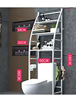 cheap -Toilet Bathroom Shelf Stainless Steel Floor Toilet Rack Free Punch Storage Rack