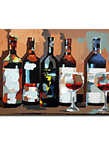 cheap -Mintura Large Size Hand Painted Abstract Wine Bottle Oil Painting on Canvas Modern Wall Art Pictures For Home Decoration (Rolled Canvas without Frame)