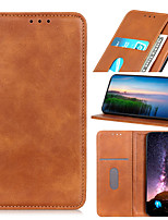 cheap -Phone Case For Samsung Galaxy Full Body Case Leather Flip S21 S21 Plus S21 Ultra S20 S20 Plus S20 ultra S20 FE 5G Galaxy M31 Prime A51 S10 Shockproof Flip Magnetic Solid Color PU Leather TPU