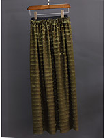 cheap -Women's Daily Elegant Skirts Solid Colored Layered Army Green
