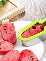 cheap -Watermelon Slicer Ice Cream Mold Stainless Steel Ice Cream Shape Simple Form Vegetable Cutting Tool Kitchen Gadgets for Summer Cooling Accessories