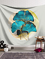 cheap -Wall Tapestry Art Decor Blanket Curtain Hanging Home Bedroom Living Room Decoration Polyester Blue Ginkgo