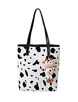 cheap -Women's Bags Top Handle Bag Daily Outdoor Tote Handbags Black / White White