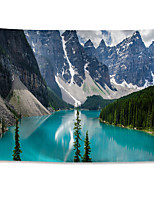 cheap -Wall Tapestry Art Decor Blanket Curtain Hanging Home Bedroom Living Room Grand Polyester Moraine Lake Snow Mountain