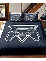 cheap -Gamer 3-Piece Duvet Cover Set Hotel Bedding Sets Comforter Cover with Soft Lightweight Microfiber, Include 1 Duvet Cover, 2 Pillowcases for Double/Queen/King(1 Pillowcase for Twin/Single)