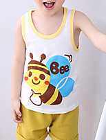 cheap -Kids Toddler Boys' Tank & Cami Sleeveless Animal Daily Wear Print Children Summer Tops Basic White Blue Yellow 2-8 Years