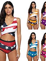 cheap -Women's Tankini Swimwear Breathable Quick Dry Sleeveless 2 Piece - Swimming Surfing Water Sports Summer / Plus Size