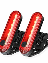 cheap -victagen usb rechargeable led bike tail light 2 pack/1 pack with 300 mah lithium battery, bicycle rear light keep cycling safe, four light mode flashlight, fits on all bike and helmet.