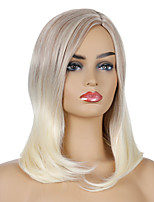 cheap -Synthetic Wig Natural Straight Middle Part Wig Medium Length Light golden Synthetic Hair Women's Cosplay Party Fashion Blonde Brown