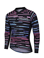 cheap -YORK TIGERS Men's Long Sleeve Cycling Jersey Downhill Jersey Bule / Black Bike Tee Tshirt Sports Clothing Apparel / Advanced / Micro-elastic / Athleisure
