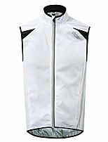 cheap -men's cycling running vest sleevless windbreaker with two side pockets - windproof, breathable and reflective (xx-large, white)