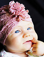 cheap -1pcs Infant Unisex Cut Out New Baby White Solid Colored Lace Lace Hair Accessories White / Yellow / Blushing Pink One-Size