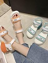 cheap -Women's Sandals Flat Heel Open Toe Rubber PU orange Green