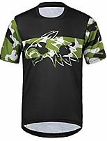 cheap -men's short-sleeved t-shirt lightweight breathable comfortable running cycling jerseys xxl, black-camo / 2