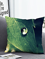 cheap -1 pcs Polyester Pillow Cover Pillow Cover & Insert, Leaf Simple Classic Square Zipper Polyester Traditional Classic