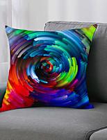 cheap -Double Side 1pc Cushion Cover  Print 45x45cm Linen