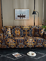 cheap -Orangle Victoria Bohemian Print Dustproof All-powerful Slipcovers Stretch Sofa Cover Super Soft Fabric Couch Cover with One Free Pillow Case