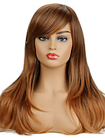 cheap -Synthetic Wig Curly Asymmetrical Side Part Wig Medium Length Brown / Burgundy Synthetic Hair Women's Cosplay Party Fashion Brown