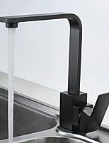 cheap -Kitchen faucet - Single Handle One Hole Painted Finishes Standard Spout Free Assemblement Contemporary Kitchen Taps