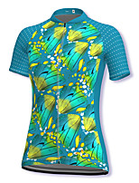 cheap -21Grams Women's Short Sleeve Cycling Jersey Spandex Green Bike Top Mountain Bike MTB Road Bike Cycling Breathable Sports Clothing Apparel / Stretchy / Athleisure