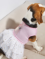 cheap -Dog Dress Stripes Lace Elegant Adorable Cute Dailywear Casual / Daily Dog Clothes Puppy Clothes Dog Outfits Breathable Pink Costume for Girl and Boy Dog Cotton XS S M L XL