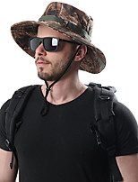cheap -Men's Sun Hat Fishing Hat Hiking Hat Outdoor UV Sun Protection Windproof UPF50+ Quick Dry Spring Summer Hunting Ski / Snowboard Fishing Camouflage Color Jungle camouflage Camouflage / Breathable