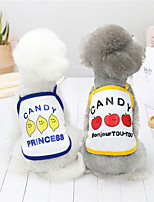 cheap -Dog Cat Shirt / T-Shirt Vest Candy Puppy Basic Adorable Cute Dailywear Casual / Daily Dog Clothes Puppy Clothes Dog Outfits Breathable Yellow Red Blue Costume for Girl and Boy Dog Polyster S M L XL