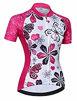 cheap -cycling jersey women's bike shirts zip short sleeve mtb tops road mountain bicycle clothing summer racing riding blouse for ladys female breathable red white size xxxl