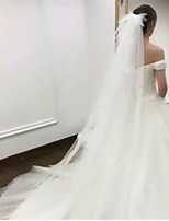 cheap -One-tier Cute Wedding Veil Chapel Veils with Sequin Tulle