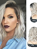cheap -Synthetic Hair Wig Grey Body Wave Bob Wigs Deep Wave Bob Wigs For Black Women