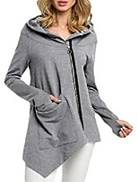 cheap -hower women's casual oblique zipper hoodie sweatshirt long sleeve jacket 3 l