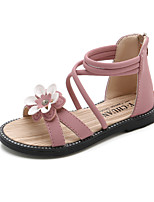 cheap -Girls' Sandals Flower Girl Shoes Princess Shoes School Shoes Rubber PU Little Kids(4-7ys) Big Kids(7years +) Daily Party & Evening Walking Shoes Bowknot Tassel Flower Black Pink Green Spring Summer