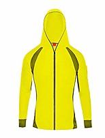 cheap -men's fishing shirts-bamboo fiber long sleeve uv sunscreen coat cloth quick drying with hood #1214 yellow-s(asia l)