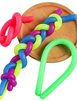 cheap -3Pcs TPR Elastic Noodles Stress Reliever Toy Noodles Antistress Adult Toys Children Squeeze Sensory Toys Gift