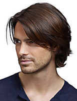cheap -Synthetic Wig Natural Straight Short Bob Wig Short Black / Brown Synthetic Hair Men's Party Fashion Comfy Black Brown