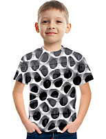 cheap -Kids Boys' Tee Short Sleeve Graphic Children Tops Active White 3-12 Years