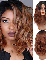 cheap -Short Wavy Blonde Ombre Brown Synthetic Heat Resistant Fiber Wigs For Black Women For Wedding Cosplay Women's Daily
