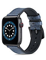 cheap -Watch Band for  Apple Watch Series 6 / SE / 5/4 / 3/2/1 44mm 40mm  42mm 38mm  Apple Business Band Silicone / Genuine Leather Wrist Strap