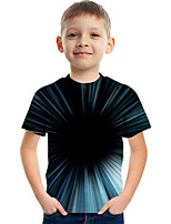 cheap -Kids Boys' Tee Short Sleeve Graphic Children Tops Active Black
