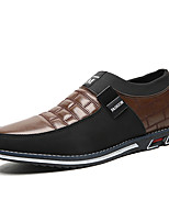 cheap -Men's Sneakers Comfort Shoes Business Classic British Daily Office & Career Faux Leather Breathable Non-slipping Wear Proof Black Blue Brown Spring Summer