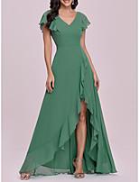 cheap -Women's A Line Dress Maxi long Dress Green Short Sleeve Solid Color Spring Summer Elegant Vintage 2021 S M L XL XXL 3XL 4XL