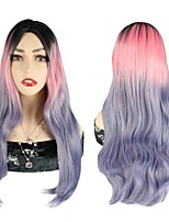 cheap -Ombre Body Wave Wigs Pink Purple Colorful Wigs Party Cosplay Wigs Synthetic Hair Wigs For Black Women