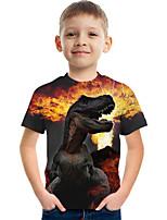 cheap -Kids Boys' Tee Short Sleeve Graphic Animal Children Tops Active Black