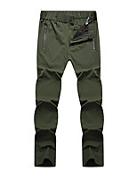 cheap -Men's Hiking Pants Trousers Solid Color Summer Outdoor Waterproof Quick Dry Breathable Stretchy Spandex Pants / Trousers Black Army Green Khaki Dark Blue Hunting Fishing Climbing L XL XXL XXXL 4XL