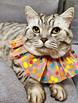 cheap -Dog Cat Bandanas & Hats Lace Daisy Elegant Adorable Cute Dailywear Casual / Daily Dog Clothes Puppy Clothes Dog Outfits Breathable Rainbow Costume for Girl and Boy Dog Polyester S M