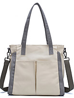 cheap -Women's Bags Canvas Crossbody Bag Top Handle Bag Zipper Solid Color Daily Going out 2021 Canvas Bag Handbags Khaki Beige