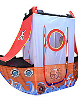 cheap -Play Tent & Tunnel Playhouse Teepee Pirate Ship Foldable Convenient Polyester Gift Indoor Outdoor Party Favor Festival Fall Spring Summer 3 years+ Boys and Girls Pop Up Indoor/Outdoor Playhouse for